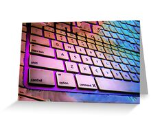 Glowing Keyboard Greeting Card