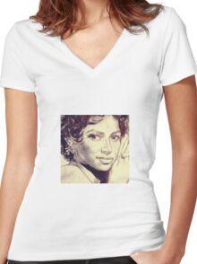 Dorothy Dandridge  Women's Fitted V-Neck T-Shirt