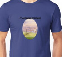 St Andrews Golf Course 17th With Banner Unisex T-Shirt