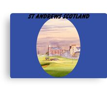 St Andrews Golf Course 17th With Banner Canvas Print