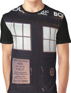 Travel in time through the TARDIS Doors.... Graphic T-Shirt