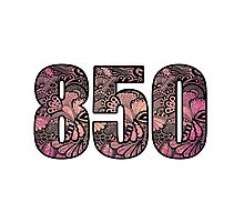 850 Area Code Doodle Photographic Print
