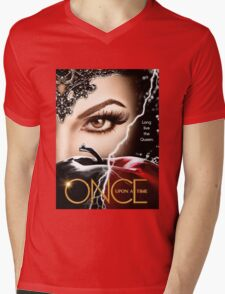 once upon a time season 6, ouat 6, once upon a time regina, ouat regina, regina, evil regina returns, evil queen returns, season 6, evil queen is back Mens V-Neck T-Shirt