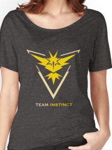 Team Instinct Black Women's Relaxed Fit T-Shirt