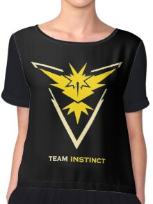 Team Instinct Black Chiffon Top