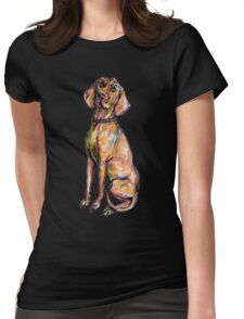 Dog Pattern 2 Black Womens Fitted T-Shirt