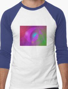 Blue Egg in the Purple Basket Men's Baseball ¾ T-Shirt