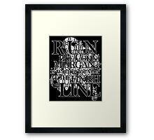 Run like Colin Morgan is waiting for you Framed Print
