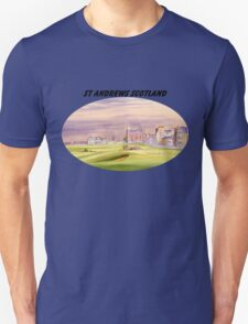 St Andrews Scotland With Banner Unisex T-Shirt