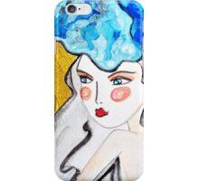 Girl Blue iPhone Case/Skin