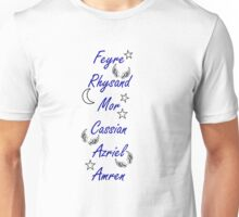 A Court of Mist and Fury Characters Unisex T-Shirt