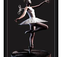 Tiny Ballet IP case Art by Debra Richie