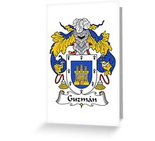 Guzman Coat of Arms/Family Crest Greeting Card