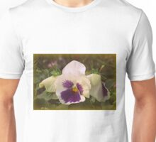 White Pansies Unisex T-Shirt