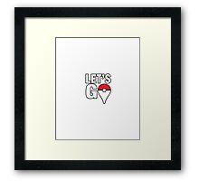 "Pokémon GO - ""Let's GO"" Framed Print"