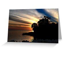 Sunset at Bayport Park Greeting Card
