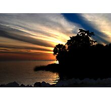 Sunset at Bayport Park Photographic Print