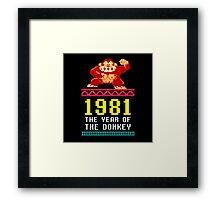 Donkey Kong Gamer tshirt Framed Print