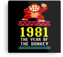 Donkey Kong Gamer tshirt Metal Print