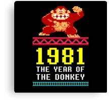 Donkey Kong Gamer tshirt Canvas Print
