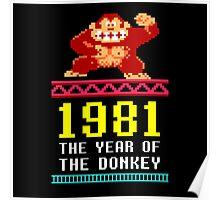 Donkey Kong Gamer tshirt Poster