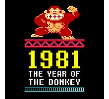 Donkey Kong Gamer tshirt Photographic Print