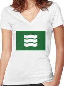 Hiroshima city flag Women's Fitted V-Neck T-Shirt