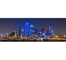 "Dallas ""Police Tribute"" FULL kyline 2016  Photographic Print"
