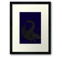 Dragon in Darkness Framed Print