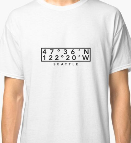 Seattle Coordinates Classic T-Shirt
