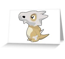 Cubone with Outline Greeting Card