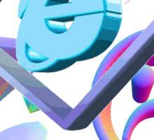 classic blue vaporwave aesthetics Sticker