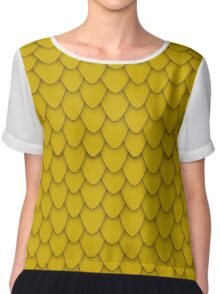 Gold Dragon Scales Chiffon Top