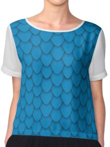 Blue Dragon Scales Chiffon Top