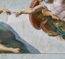 Classical Art Meme Michelangelo Sticker