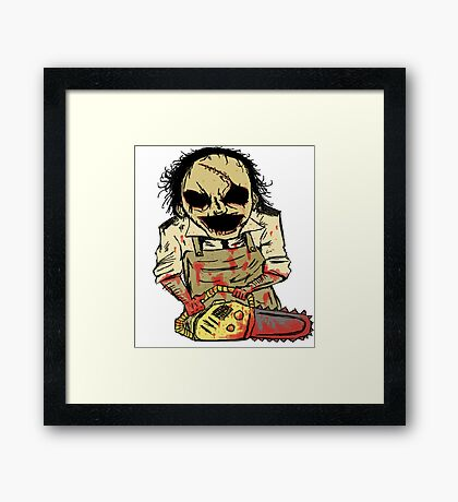 Leatherface. The Texas Chainsaw Massacre Framed Print