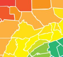 pennsylvania color counties Sticker