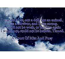 A Court of Mist and Fury Quote Photographic Print