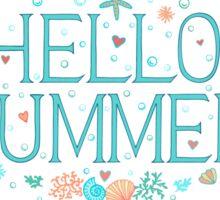 Hello summer Sticker