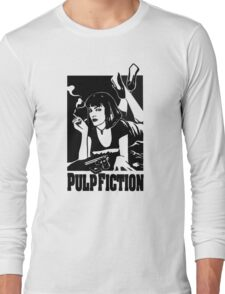 -TARANTINO- Pulp Fiction Cover Long Sleeve T-Shirt