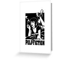 -TARANTINO- Pulp Fiction Cover Greeting Card