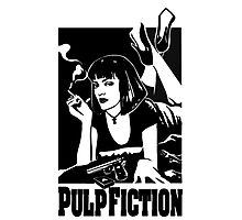 -TARANTINO- Pulp Fiction Cover Photographic Print