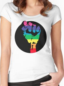 pride fist Women's Fitted Scoop T-Shirt