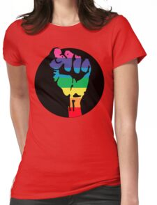 pride fist Womens Fitted T-Shirt