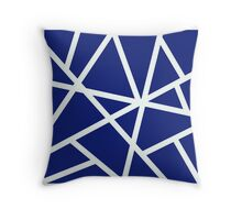 Blue Earthquake Throw Pillow