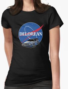 -MOVIES- Back To The Future Nasa Style Womens Fitted T-Shirt