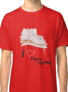 I heart Figure Skating Skates Classic T-Shirt