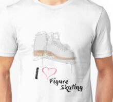 I heart Figure Skating Skates Unisex T-Shirt