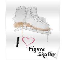 I heart Figure Skating Skates Poster