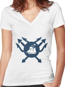 Sailor v poseidon Women's Fitted V-Neck T-Shirt